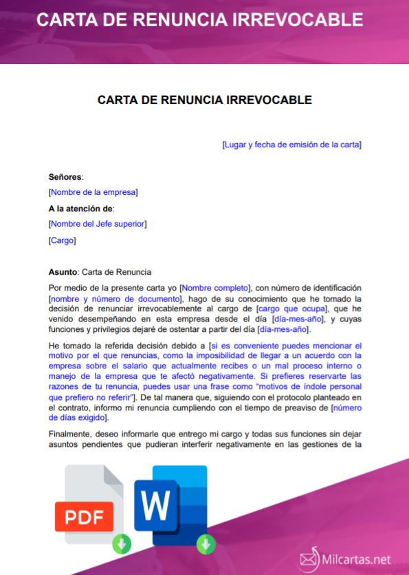 modelo-ejemplo-plantilla-formato-carta-renuncia-irrevocable